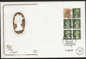 29/1/1987 £1 MUSIC 3 (BASS CLARINET) .BOOKLET-NEW PHOSPHOR INK FDC