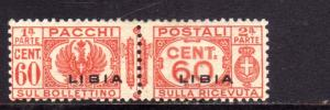 LIBIA 1927 - 1937 LIBIA PACCHI POSTALI PARCEL POST CENT. 60c MH