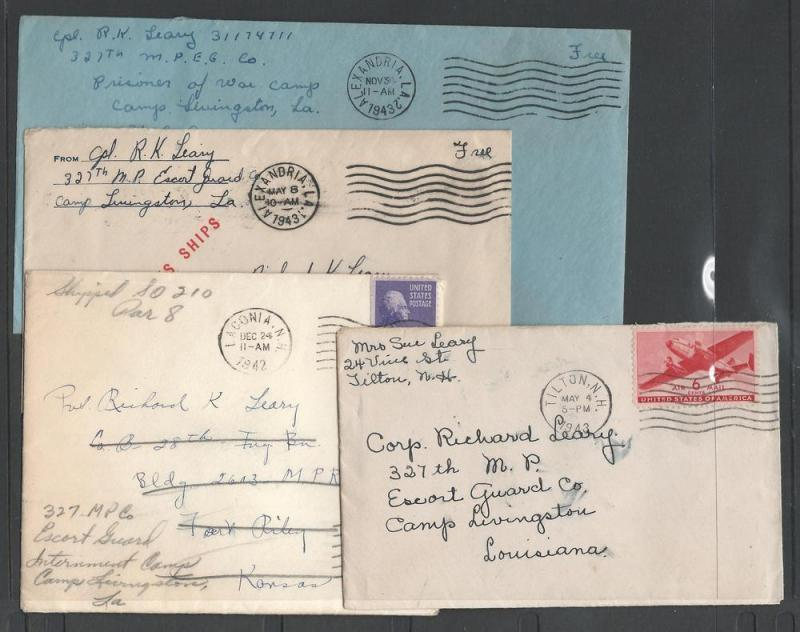 Six Covers , An MP in Camp Livingston, WWII Related