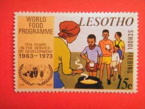 LESOTHO, 1973, MH 15c,10th Anniv of World Food Programme.