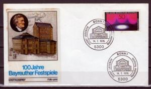 Germany, Scott cat. 1217. Bayreuth Music Festival issue. First day cover.