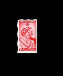 ADEN / QUAITI - 1949 - SILVER WEDDING ISSUE - # 14 - MINT - MNH SINGLE!