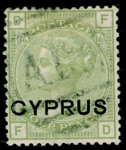 CYPRUS SG4, 4d Sage Green, FINE USED. Cat £225.