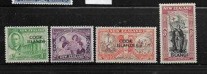 COOK ISLANDS,127-130, MINT HINGED, PEACE ISSUE OVPTD