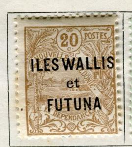 FRENCH ILES WALLIS FUTUNA;  1920-28 early issue fine Mint hinged 20c. value