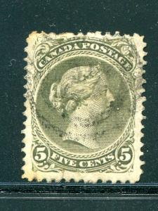 Canada #26a  Used  F-VF  perf 12x12 -   Lakeshore Philatelics