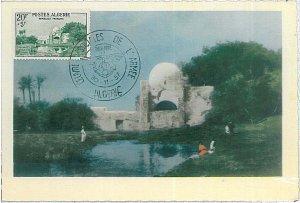 38741  - ALGERIA  - POSTAL HISTORY -  MAXIMUM CARD -  ARCHITECTURE 1957