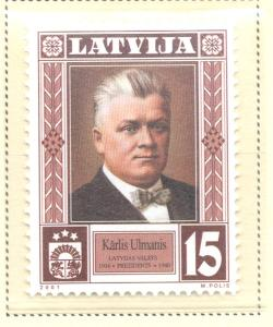 Latvia Sc 524 2001 President Ulmanis stamp mint NH
