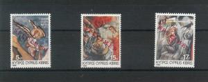 56123 - CYPRUS - Michel 665 / 671 with RED OVERPRINT: SPECIMEN 1986 - RELIGION