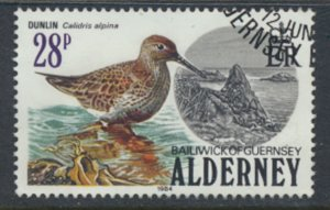 Alderney  SG A16  SC#  16   Birds Used First Day Cancel - as per scan