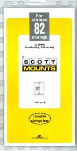 Scott Mounts Clear, 82mm STRIP 240mm, (Pgk. 10) (00944C)