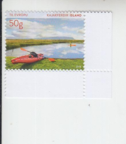 2018 Iceland Tourist Stamp - Kayaking (Scott 1469) MNH
