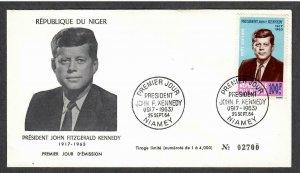 Niger Airmail John F Kennedy # C44 , JFK FDC - I Combine S/H