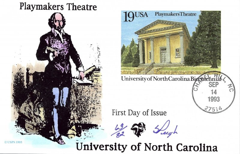 Pugh Designed/Painted NC Playmakers Theatre FDC...63 of 82 created!
