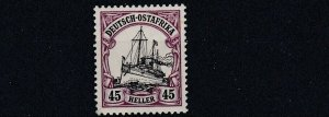 GERMAN EAST AFRICA  1905 - 20  S G 40  45H  BLACK & MAUVE   MH