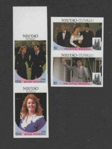 TUVALU-NIUTAO #51-52 1986 WEDDING OF PRINCE ANDREW IMP. PAIR MINT VF NH O.G