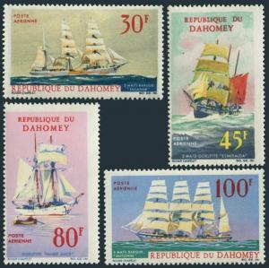 Dahomey C51-C54,MNH.Michel 309-312. Sailing Ships-Windjammers,1967.