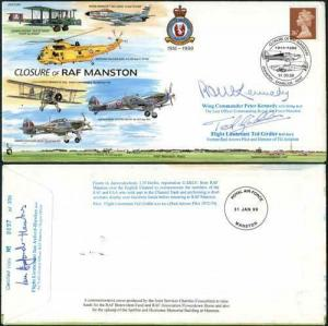 JS(CC)60b Closure of RAF MANTSON Signed by Peter Kennedy and Ted Girdler