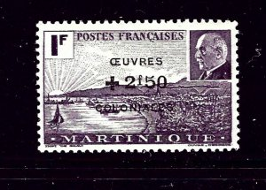 Martinique B10B MH 1944 surcharged issue