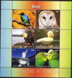 Djibouti 2011 Birds (2) MNH Cinderella !
