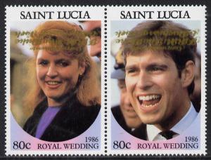 St Lucia 1986 Royal Wedding (Andrew & Fergie) 80c se-...