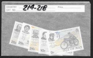 ISLE OF MAN Sc#214-218 Complete Mint Never Hinged Set