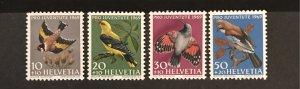 Switzerland 1969 #B386-90, MNH, CV $2.55