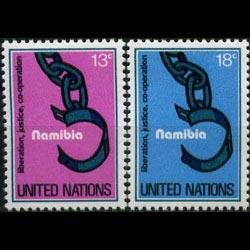 UN-NEW YORK 1978 - Scott# 296-7 Namibia Set of 2 NH