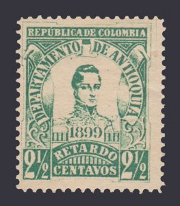 STAMPS FROM COLOMBIA ANTIOQUIA 1899. SCOTT # LF1. UNUSED