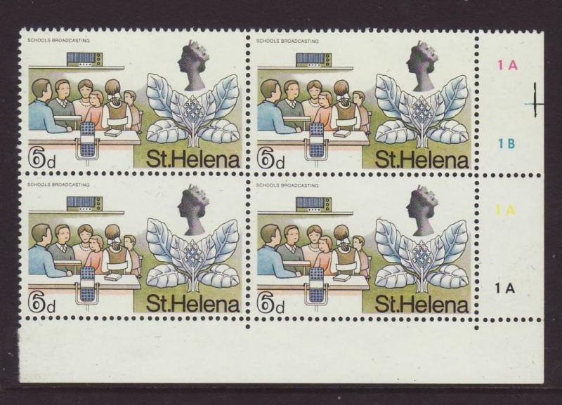 1968 St Helena 6d in Block of 4 U/M SG232