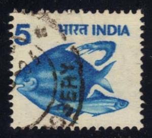 India #837 Fish, used (0.65)