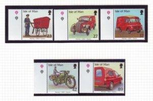 Isle of Man Sc 976-80 2003 Postal Vehicles stamp set mint NH