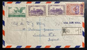 1947 Beirut Lebanon Polish Red Cross Airmail Cover To London England