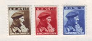 Norway ScB44-6 1946 Crown Prince Olav stamps mint