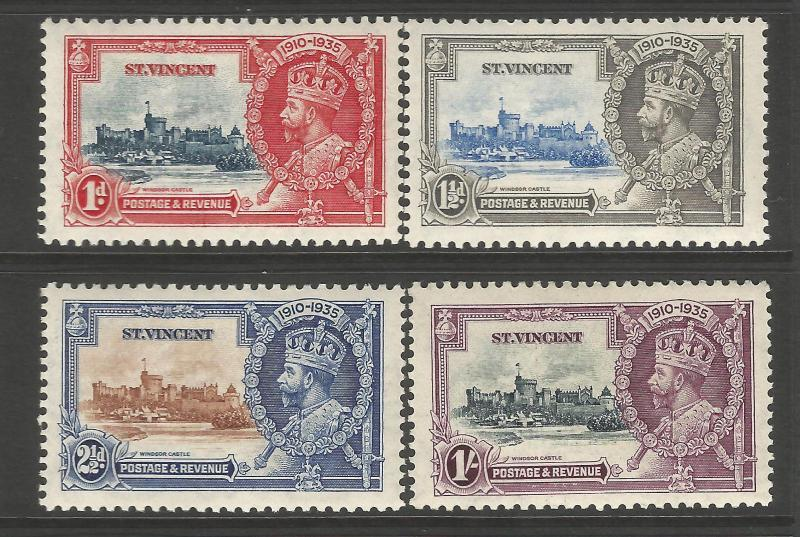 St Vincent 1935 KGV Silver Jubilee set fresh unmounted mint.