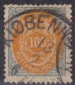 Denmark #34 F-VF Used  CV $60.00  (Z6290)