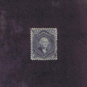 SCOTT# 70c USED 24c WASHINGTON, LIGHT CANCEL, 1861, WITH REPAIRS, PF CERT.