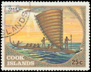 Cook Islands #357-363, Complete Set(7), 1973, Ships, Used, CTO