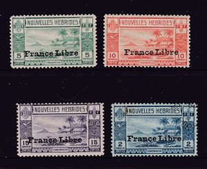 New Hebrides x 4 mint France Libre