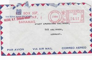bahamas 1968 slogan airmail stamps cover  ref 10146