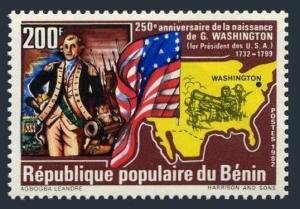 Benin 1982 G. WASHINGTON Ovpt. New value Perforated Mint (NH)