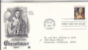 1992, Christmas, Artcraft/PCS, FDC (E8651)