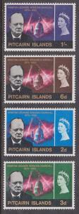 Pitcairn Islands - 1966 Churchill Set VF-NH Sc. #56-9