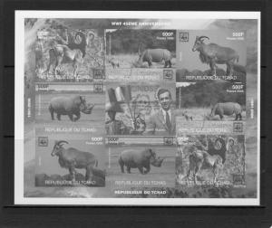 Chad 2006  WWF 45th.Anniversary Sir Julian Huxley Sheetlet (8) BLACK PRINT MNH
