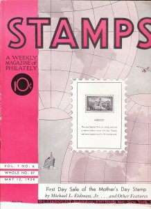 Stamps Weekly Magazine of Philately May 12, 1934 Stamp Collecting Magazine