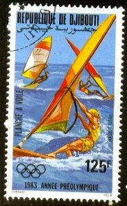 Pre-Olympic Year, Wind Surfing, Djibouti stamp SC#C176 used