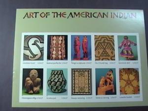 U.S.# 3873-MINT/NH-- PANE OF 10------ART OF THE AMERICAN INDIAN-------2004
