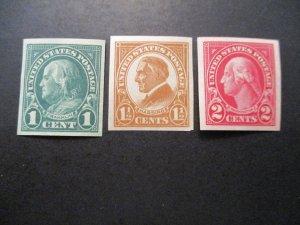 US Stamps S# 575-577, 3v Imperf'd set, MNH OG
