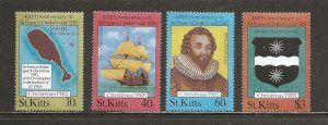 Saint Kitts Scott catalog # 173-176 Mint NH