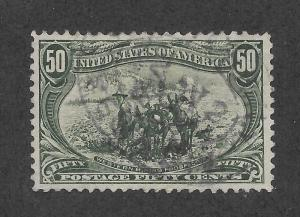 291 Used,  50c. Trans-Mississippi, XF, CDS, scv: $190
